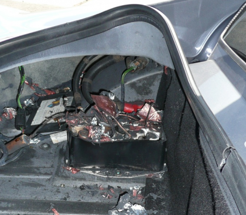 Figure 1: Car Battery After Thermal Runaway.