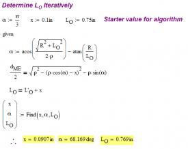Figure 12: Mathcad Solve Block for 155 Grain Sierra Bullet.