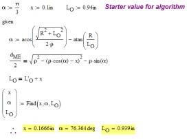 Figure 17: Solve for L in180 Grain JLK Bullet.