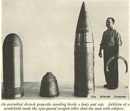 Figure 5: Breakdown of the Mk 8 AP Shell.