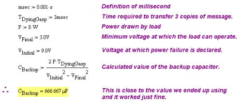 Figure 1: Calculation Used for Actual Product.