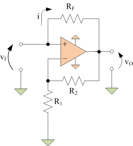 current source built with a negative resistance