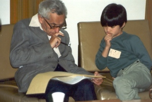 Figure 1: Terrence Tao with Paul Erdos.