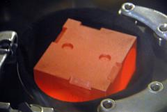 Figure 2: A Glowing Pu-238 RTG Element.