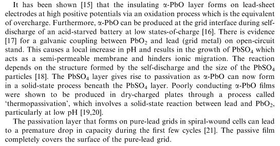 Figure 5: Reference on Forming an Insulating Layer That Renders Batteries Unchargeable.