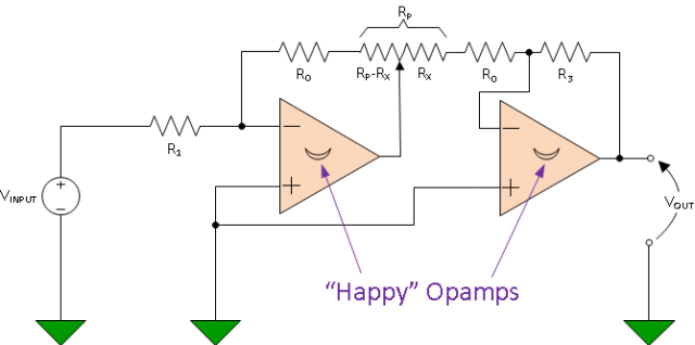 Figure 4: Slightly Modified Circuit for Generation Ln(1/x).