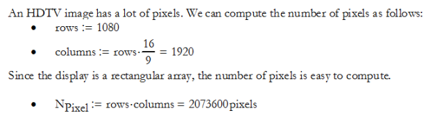 Figure 4: Calculation of the Total Number of HDTV Pixels.