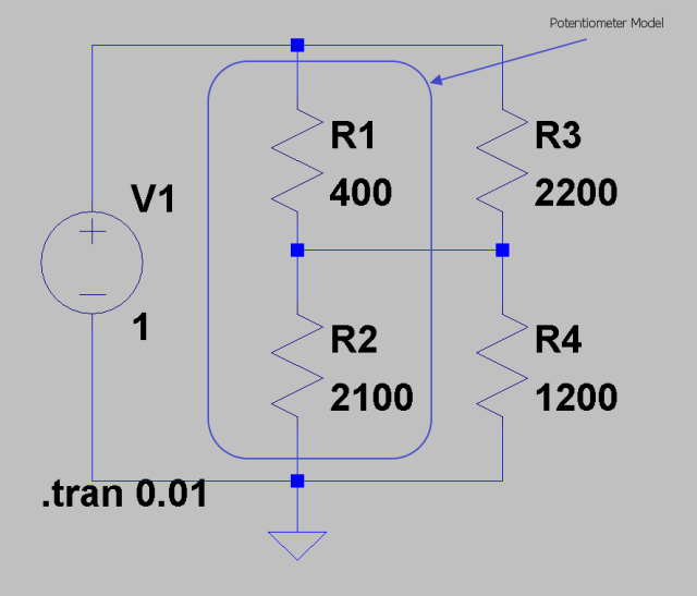 Figure 5: Circuit as Tested in Spice.