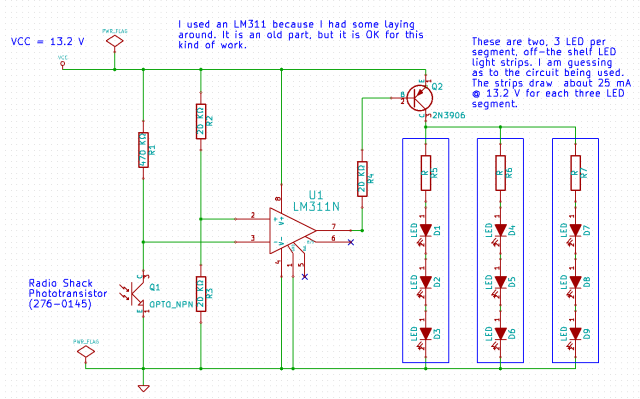 Figure 2: Schematic of My Light Sensor.
