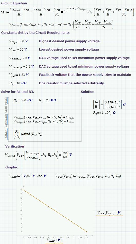 Figure 2: Screenshot of My Power Supply Control Input Design Worksheet.