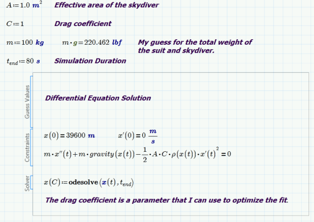 Figure 3: Setup of the Differential Equation Solver.