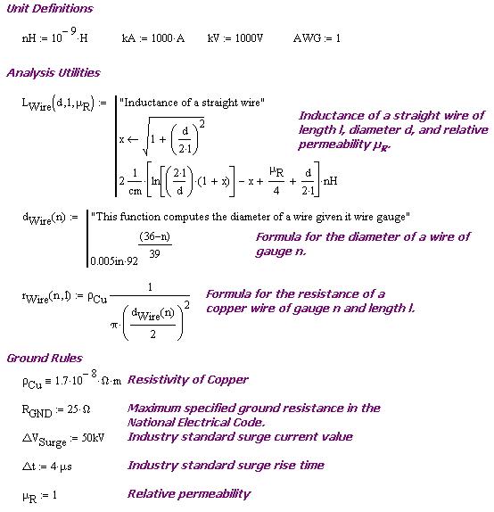 Figure 5: Surge Analysis Setup.
