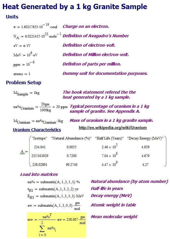 Figure 1: Setup for the Analysis of Granite's Self-Heating.