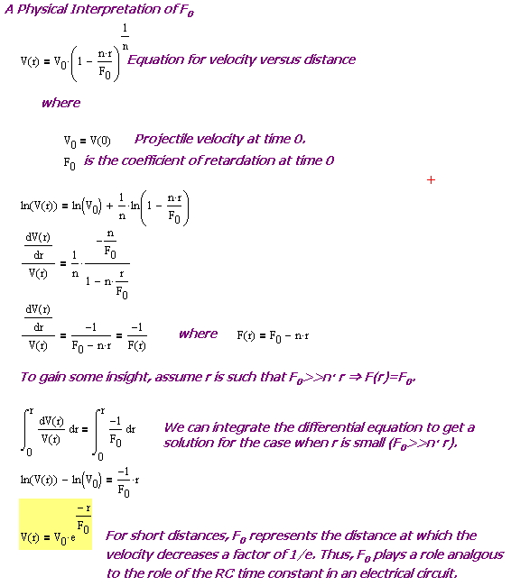 Figure 1: Derivation of Simplified Expression for Velocity as a Function of Distance.