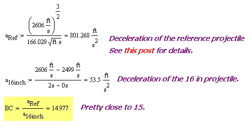 Figure 2: Ballistic Coefficient Calculation Using Deceleration Data.