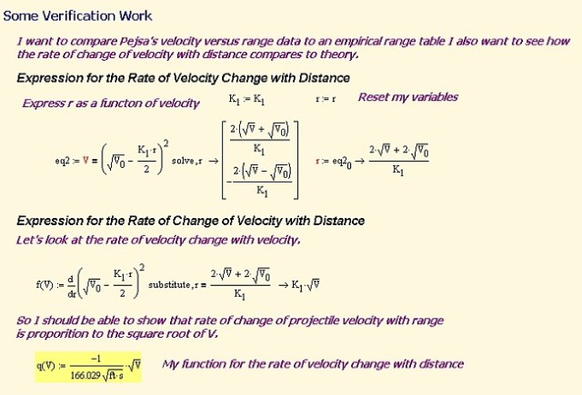 Figure 3: Derive Rate of Velocity Change with Range.