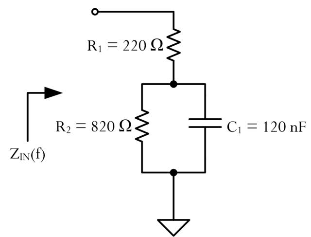 Figure 1: Equivalent Load Circuit For Australian Phone.