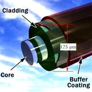 Figure 2: Cross-Section of Optical Fiber.