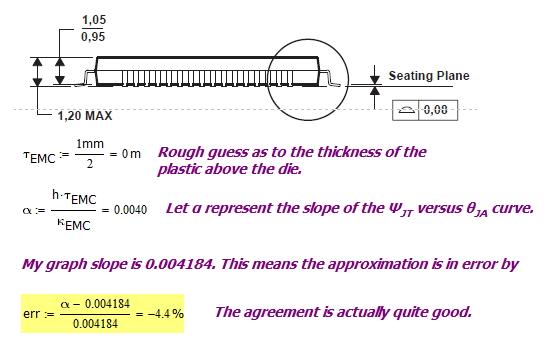 Figure 7: Estimating the Slope of the ?JT versus ?JA Line.