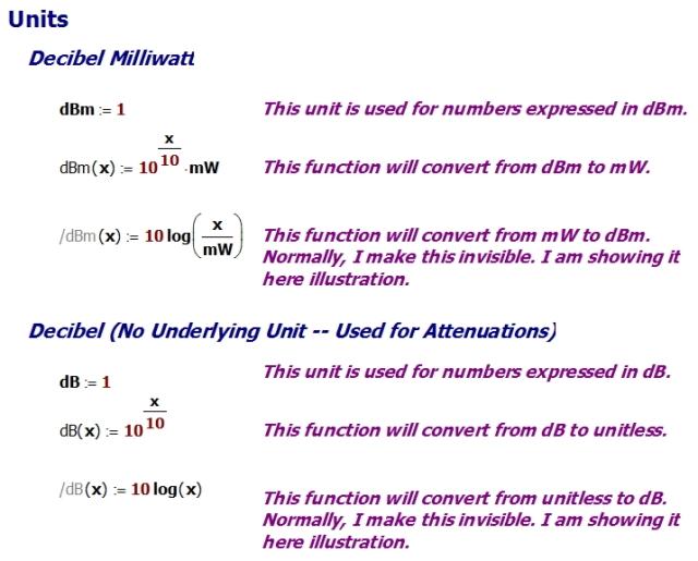Figure 1: Defining a Set of Decibel Units.