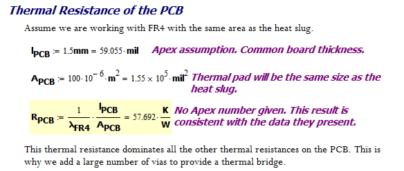 Figure 8: Thermal Resistance of FR4 Material in the PCB.