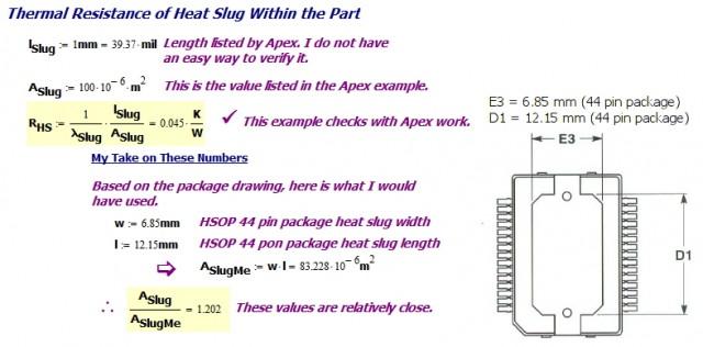 Figure 6: Thermal Resistance of the Heat Slug.