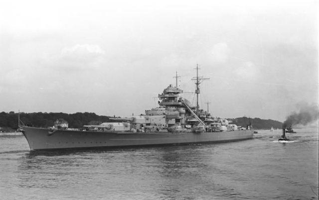 Figure 1: Battleship Bismarck (Source: Wikipedia).
