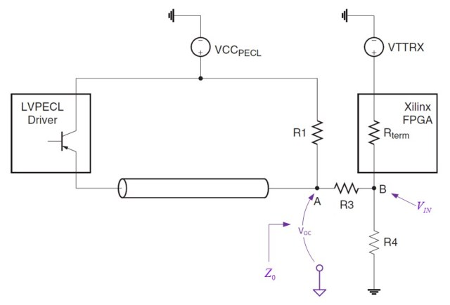 Figure 1: Three-Resistor Matching Network.
