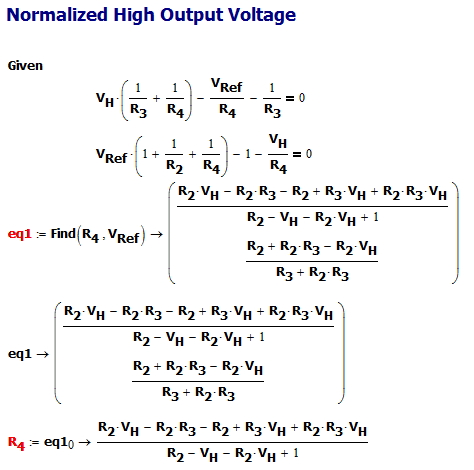 Figure 4: Normalized High Output Voltage Equation.