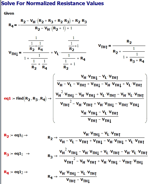 Figure 5: Solution to the Normalized Resistor Equations.