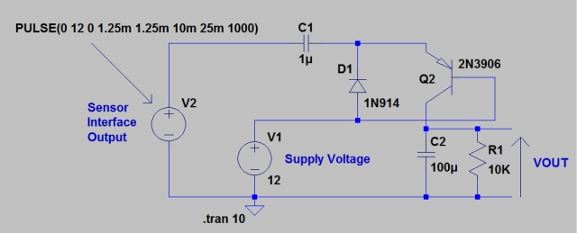 Figure 1: Simple Frequency-to-Voltage Converter.