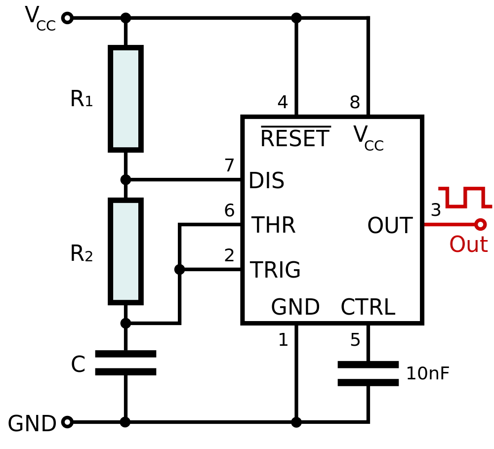 555 Timer Math Encounters Blog Circuit Oscillator Lm555 Part 2 Figure 3 Standard Astable Configuration