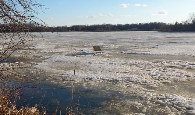 Figure 1: Lounge Chairs on a Frozen Lake.