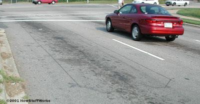 Figure 2: Inductive Sensor Built into a Roadway.