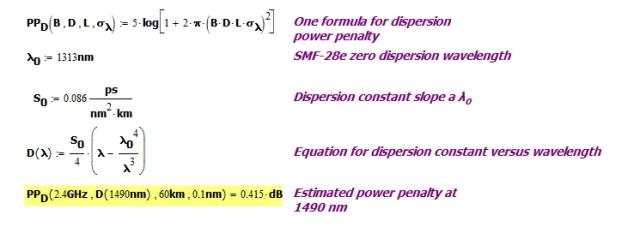 Figure 2: Downstream Dispersion Calculation.