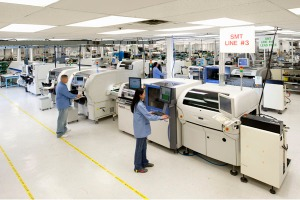 Figure 1: Surface-Mount Assembly Line. These facilities are typically very clean to prevent contamination issues.