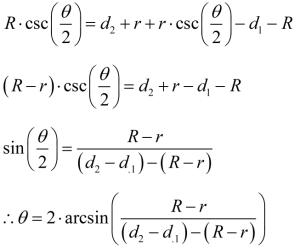 Figure 3: Derivation of the Taper Formula.