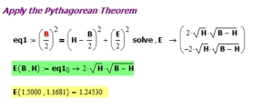Figure X: Derivation and Worked Example Math.