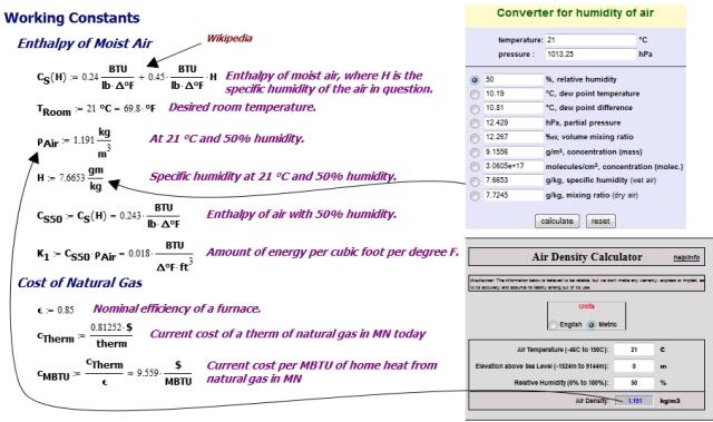 Figure M: Determination of HVAC Constants.