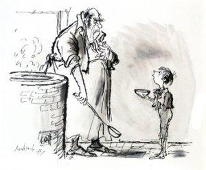 Figure 2: Oliver Asking For More.