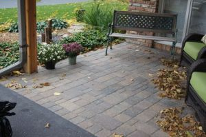 Figure 1: My Paver Patio and My Need for an Accurate Perpendicular.