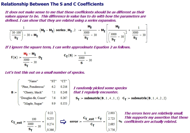 Figure 10: Relationship Between S and C Coefficients.