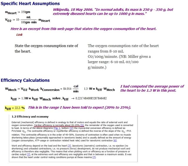 Figure 3: Efficiency Calculations.