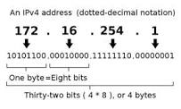 Figure 1: Example of an IP Address Expressed in Octets.