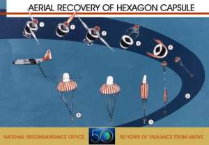Figure M: Film Canister Reentry Vehicle Recovery.