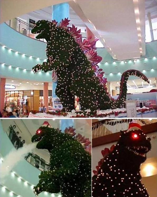 ChristmasGodzilla