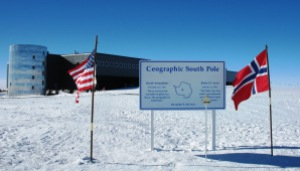 Figure 1: Signpost at South Pole Station.