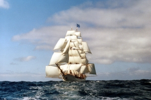 Figure 1: Tall Ship Europa Under Full Sail.