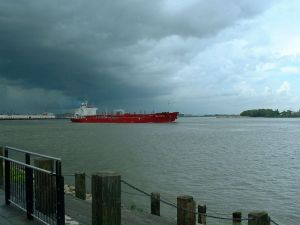 Figure 2: Tanker on the Mississippi in New Orleans.